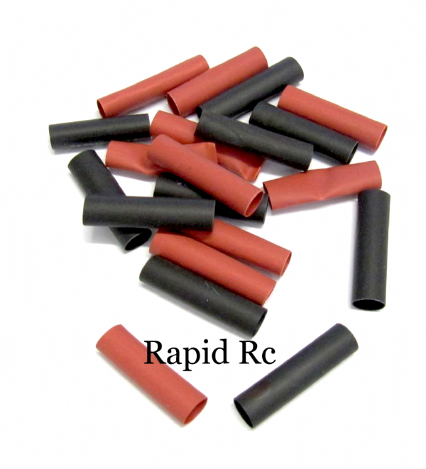 Heat shrink 4mm 10 red and x 10 black